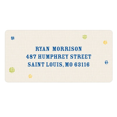 Balloon Craw in Blue Kids Address Labels