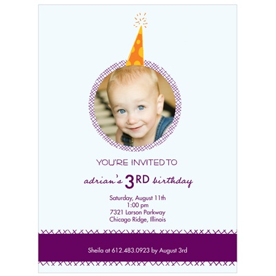 Party Hat -- Custom Kids Party Invitations