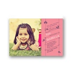 Cute as a Ladybug -- Kids Photo Birthday Invitations