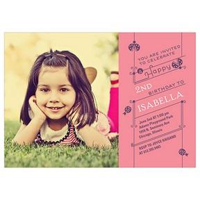 Cute as a Ladybug -- Kids Photo Birthday Invitations