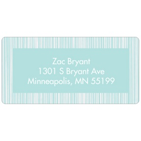Series of Stripes in Blue -- Kids Address Labels