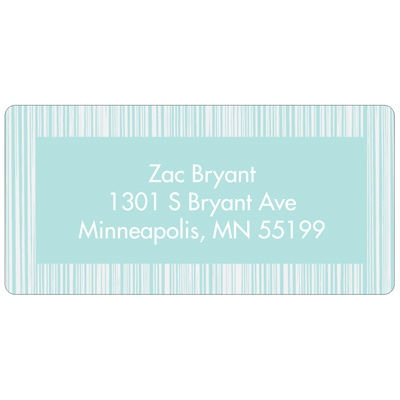 Series of Stripes in Blue Kids Address Labels