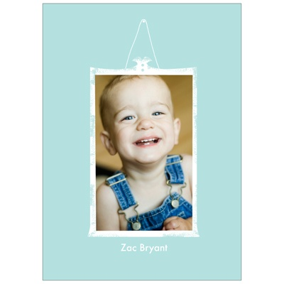 Framed Moment in Blue Kids Photo Thank You Cards