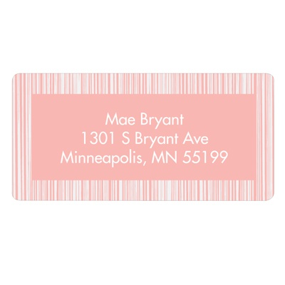 Series of Stripes in Pink Kids Address Labels