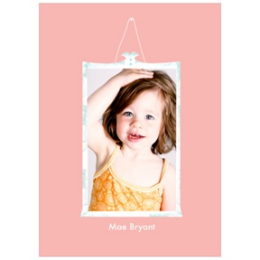 Framed Moment in Pink -- Kids Photo Thank You Cards