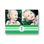 Playful Ribbon -- Kids Photo Thank You Cards