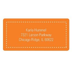 Fun Dots in Orange -- Kids Address Labels