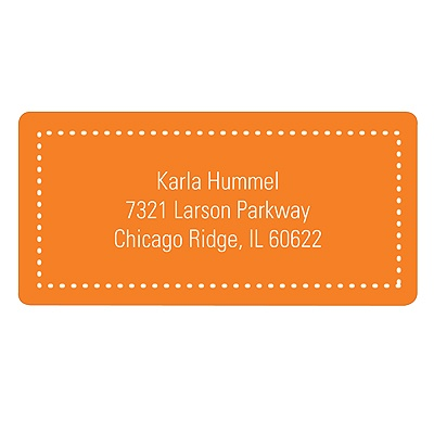 Fun Dots in Orange Kids Address Labels