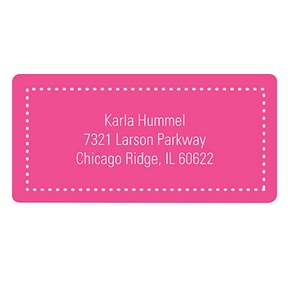 Fun Dots in Pink -- Kids Address Labels