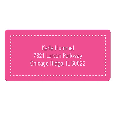 Fun Dots in Pink Kids Address Labels