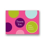 Fun Dots in Pink -- Kids Thank You Cards