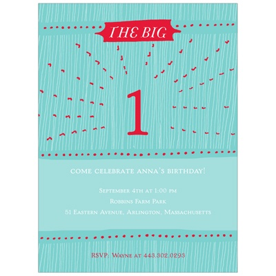 Radiant One 1st Birthday Party Invitations