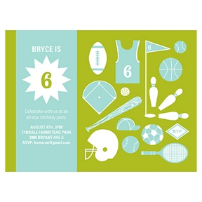 Game On -- Sports Birthday Invitations