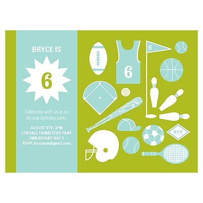 Game On Sports Birthday Invitations