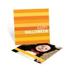 Striped Halloween Greetings -- Halloween Photo Card