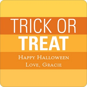 Striped Halloween Greetings -- Personalized Stickers
