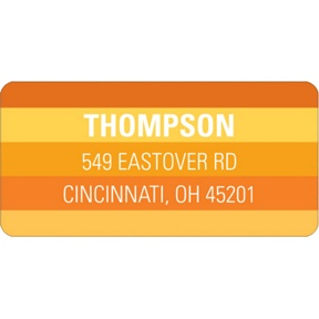 Striped Halloween Greetings -- Halloween Address Label