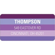Shades of Purple Halloween  Address Label