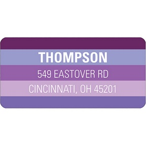 Shades of Purple -- Halloween  Address Label