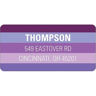 Shades of Purple Halloween  Address Label