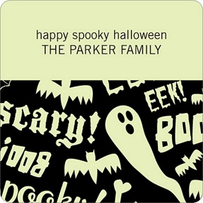 Spooky Halloween Sayings -- Personalized Stickers