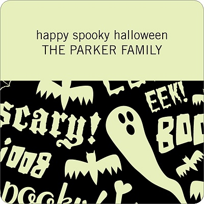 Spooky Halloween Sayings Personalized Stickers