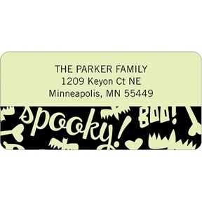 Spooky Halloween Sayings -- Halloween Address Label