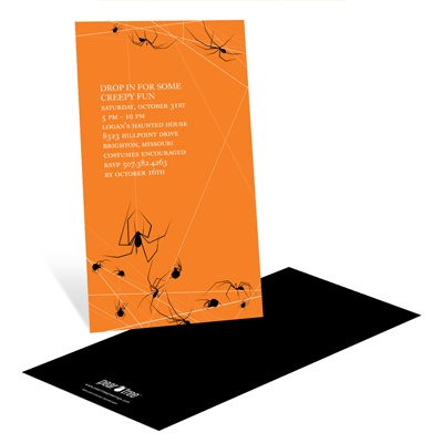 Spinning Spider Web Halloween Party Invitation