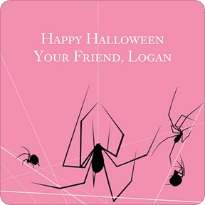 Spinning Spider Web -- Personalized Stickers
