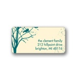 Spooky Woods -- Halloween Address Label