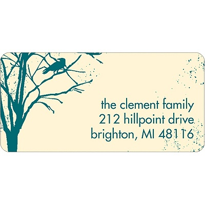 Spooky Woods Halloween Address Label
