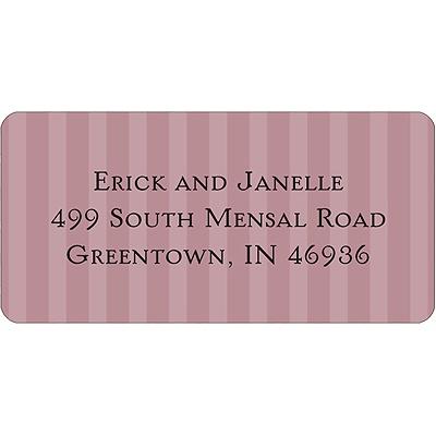 Shaded Stripes Halloween Address Label