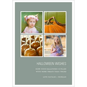 Picture Window Pane -- Halloween Photo Card