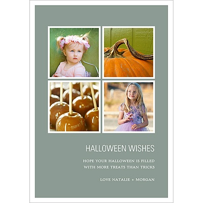 Picture Window Pane -- Halloween Photo Card