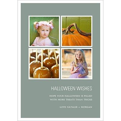 Picture Window Pane Halloween Photo Card
