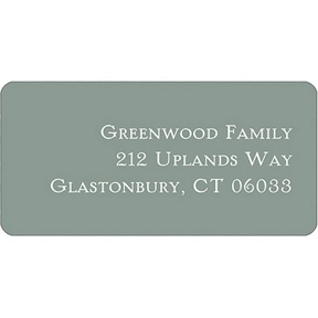 Simple Gray -- Halloween Address Label