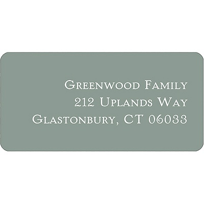 Simple Gray Halloween Address Label