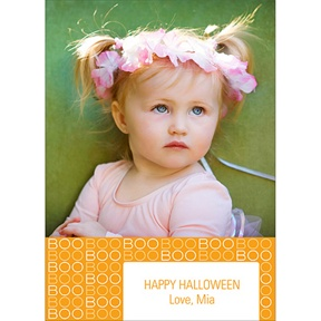 BOO! -- Halloween Photo Card