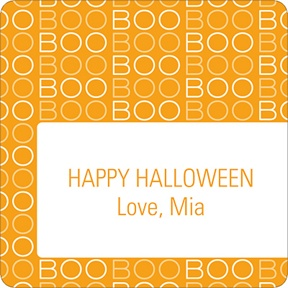 BOO! -- Personalized Stickers