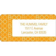 BOO! Halloween Address Label