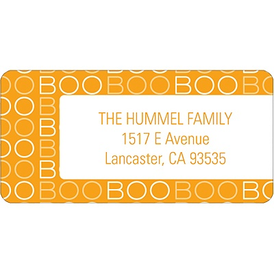 BOO! -- Halloween Address Label