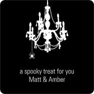 Chandelier Web Halloween Personalized Stickers