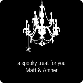 Chandelier Web -- Halloween Personalized Stickers