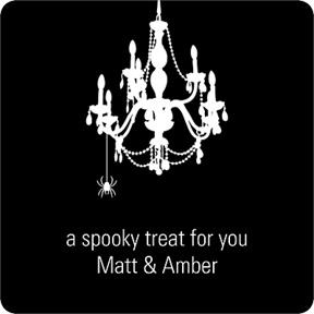 Chandelier Web -- Halloween Personalized Stickers