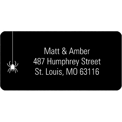 Dangling Spider -- Halloween Address Label