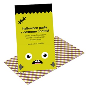 Full of Frankenstein -- Kids Halloween Invitation