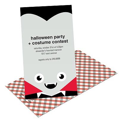 Vampire Love Kids Halloween Invitation