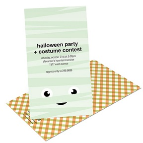 Mummy Wrap -- Kids Halloween Invitation