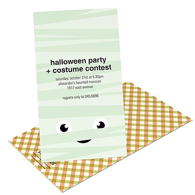 Mummy Wrap Kids Halloween Invitation