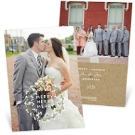 White Wreath Holiday Photo Cards